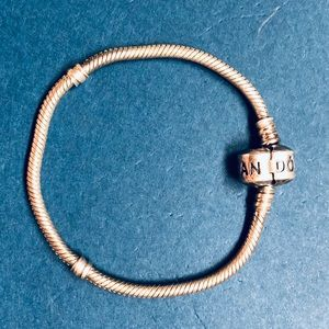 Authentic Pandora Silver Snap Charm Bracelet
